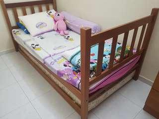 WTS: Soild wooden single bed frame only