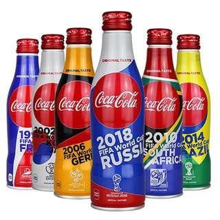 可口可樂FIFA世界盃六瓶限量版組空瓶/