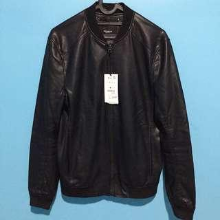 Bomber leather pull&bear size L slimfit New original