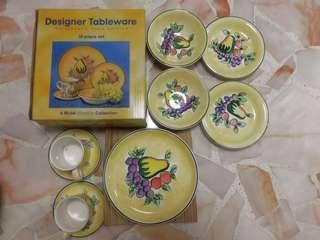 Designer Tableware consist of cups, plates, bowls
