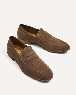 ⭕️ ZARA - Brown Leather Loafers