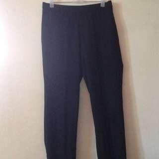Uniqlo Smart Ankle Trousers (Black)