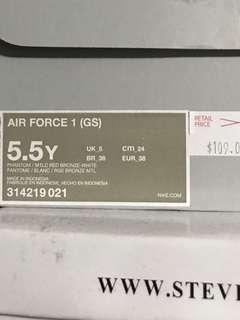 Nike Air Force One US7/GS5.5Y
