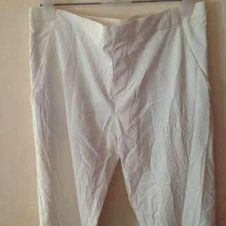 Uniqlo Ankle Trousers (White)