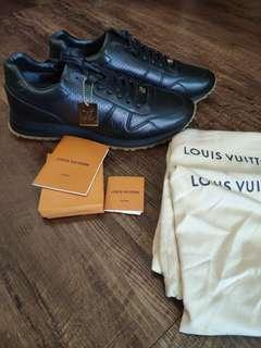 100% new Supreme LV Louis Vuitton Run Sneaker Black #MILAN02