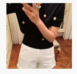 外單新品浮雕短袖針織衫
