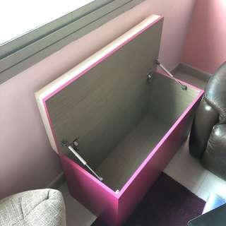 High bench sofa + storage