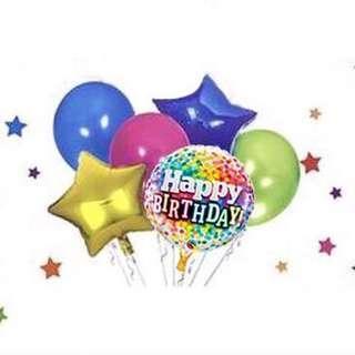 Birthday Balloons Set (6pcs)