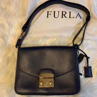 FURLA Metropolis  - Shoulder bag leather NAVY BLUE