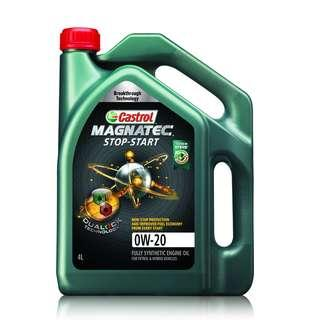 Ready Stock Castrol Magnatec 0W-20 Fully Synthetic Engine Oil 4L