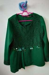 Baju kurung budak lace beads