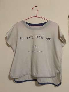 🚚 白色T恤All Ways Thank You