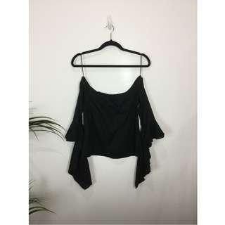 MLM - Off The Shoulder Top With Frill Sleeve