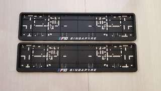 BMW 5 series F10 number plate holder pair