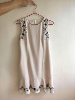 Love and Bravery White Floral Dress in Size s