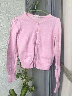 H&M girl's pink cardigan