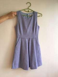🚚 Code Red light blue skater dress in size s