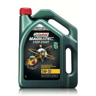 Ready Stock Castrol Magnatec NEW 5W-30 SN Fully Synthetic 4L Auhentic Guarantee