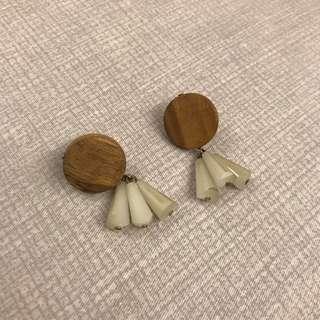 🚚 木質耳環