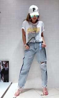 歐洲品牌 t shirt 外套 牛仔褲