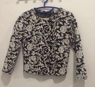 Forever 21 Floral Knitted Top