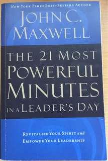 🚚 The 21 Most Powerful Minutes in a Leader's Day - John Maxwell (Brand New Paperback)