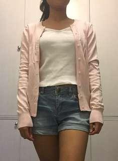 H&M Basic Pink Cardigan