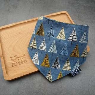 🚚 臨邊壓線 不易變形 手作圍兜.口水巾.吐奶巾.彌月禮 布頭巾 大地風 森林 樹木