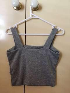 Valley girl grey cropped top