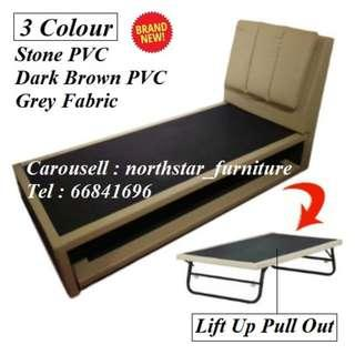 🚚 Single Bed Frame + Lift Up Pull Out Bed