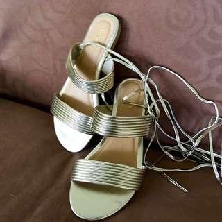 Shoexpress Gold Gladiator Sandals