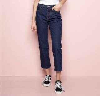 🚚 Brandy Melville dark denim Millie highwaist jean