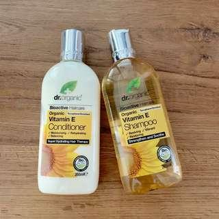 Dr Organic Vitamin E shampoo and conditioner