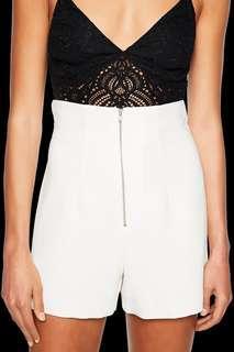 Bardot High Waist White Shorts