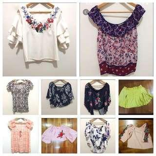 🚚 One lot of 10 tops