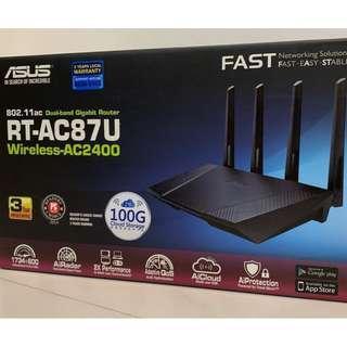 CHEAP! Asus RT-AC87U 4x4 Wireless AC2400 Gigabit Dual WAN Capable Router Access Point Bridge w/ Ext Antennas $79 ONLY!