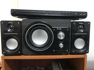 電腦音響+DVD播放器