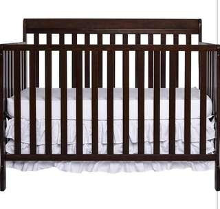 Brand New Dream On Me Alissa Convertible 5-in-1 Convertible Crib - Espresso
