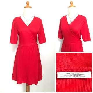 Zara Wrap Red Dress