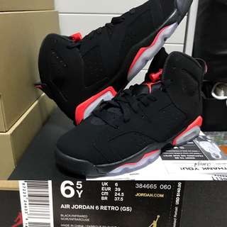 "info for ad4fe 0f489 (全新6.5Y) Air Jordan 6 VI Retro ""Black Infrared"" Nike eur39"
