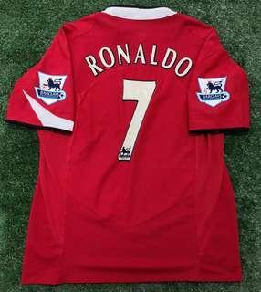 Original Manchester United 2004 jersey jersi MU CR7