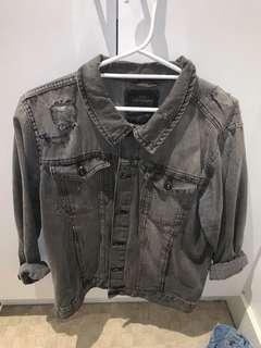 Vintage Threadbares Grey Denim Jacket w/ Rips