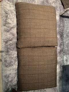 Elegant pillow slips, fabric from BOSS, set of 2