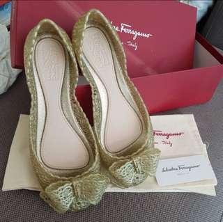 Authentic Ferragamo jelly shoes #makespaceforlove