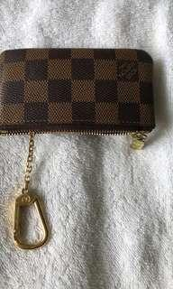 LV Key chain coin small wallet Good Condition