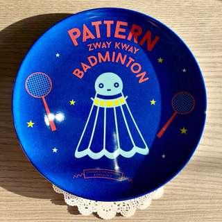 🚚 BN Strangely Singapore Melanine Plate - Pattern Zway Kway Badminton