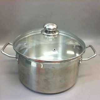 海霸王 不鏽鋼雙耳湯鍋 24cm