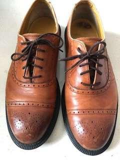 Dr Martens brown wingtip shoes