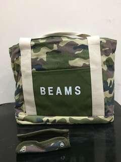 🚚 BEAMS x 7-ELEVEN可折疊帆布托特包「迷彩」