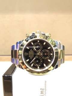 Pre Owned Rolex Oyster Daytona 116503 Black Dial Automatic Steel Casing Bracelet